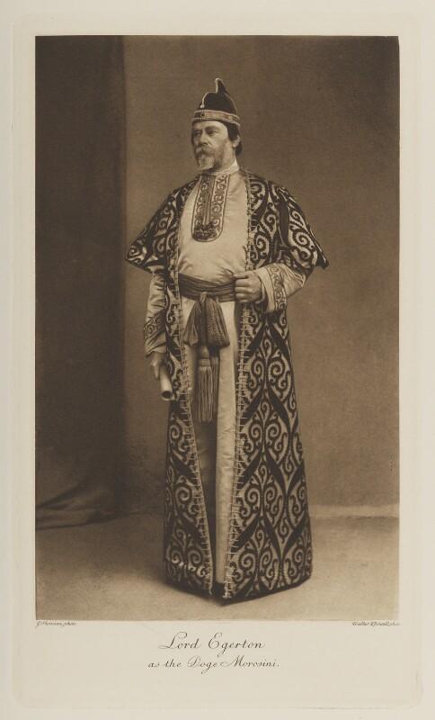 Wilbraham Egerton, 1st Earl Egerton of Tatton as the Doge Morosini, by John Thomson, photogravure by  Walker & Boutall, 1897; published 1899 - NPG Ax41145 - © National Portrait Gallery, London