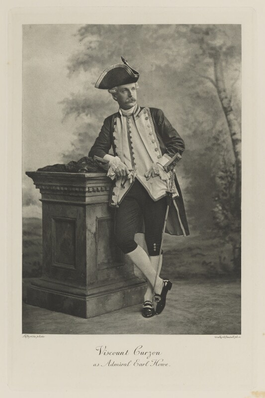 Richard George Penn Curzon, 4th Earl Howe when Viscount Curzon as Admiral Earl Howe, by Lafayette, photogravure by  Walker & Boutall, 1897; published 1899 - NPG Ax41171 - © National Portrait Gallery, London