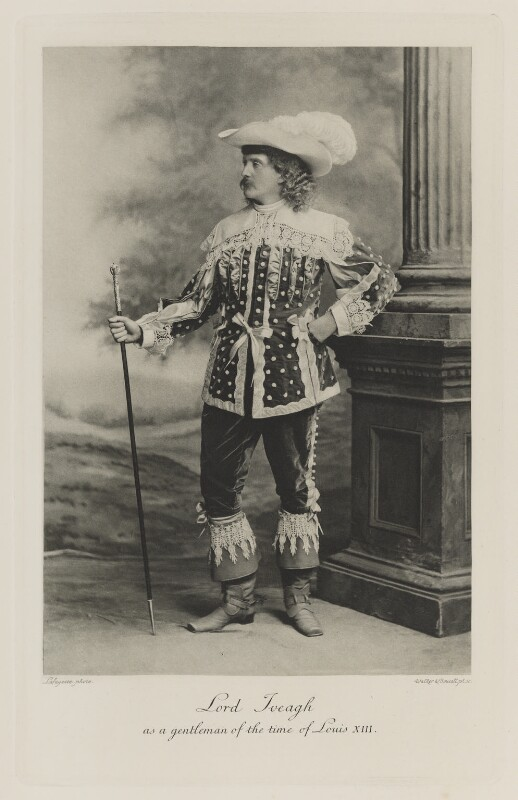 Edward Cecil Guinness, 1st Earl of Iveagh as a gentleman of the time of Louis XIII, by Lafayette (Lafayette Ltd), photogravure by  Walker & Boutall, 28 July 1897; published 1899 - NPG Ax41185 - © National Portrait Gallery, London