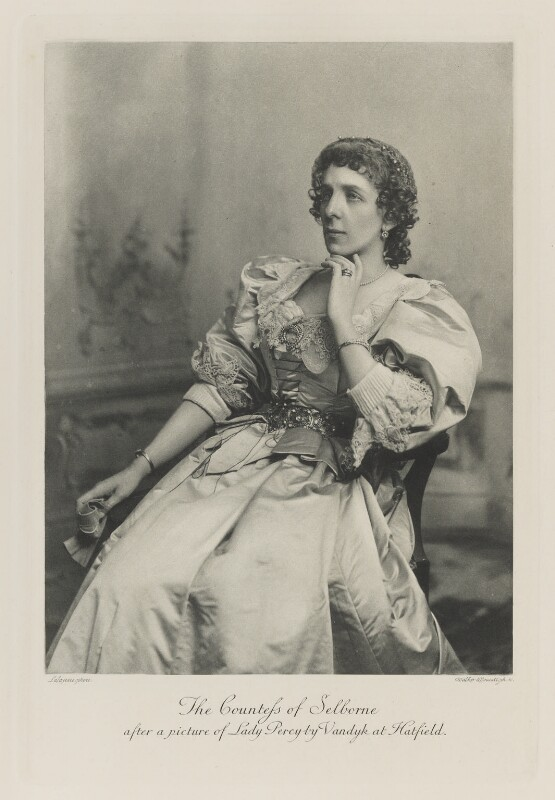 Beatrix Maud (née Cecil), Countess of Selborne after a picture of Lady Percy by Vandyk at Hatfield, by Lafayette, photogravure by  Walker & Boutall, 1897; published 1899 - NPG Ax41196 - © National Portrait Gallery, London