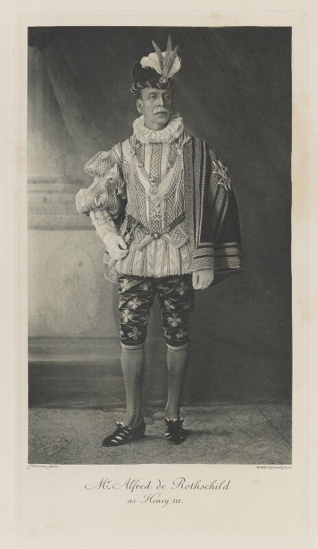 Alfred Charles de Rothschild as King Henry III, by John Thomson, photogravure by Walker & Boutall, 1897; published 1899 - NPG Ax41237 - © National Portrait Gallery, London
