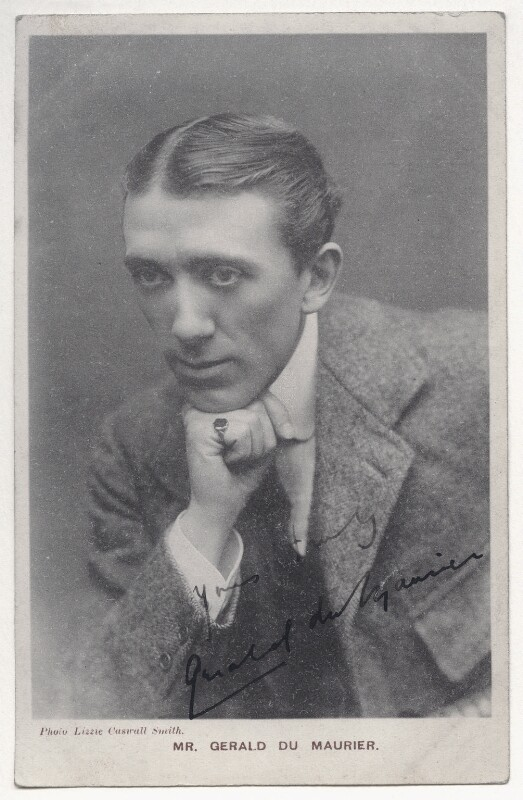 Sir Gerald Du Maurier, by Lizzie Caswall Smith, published by  Davidson Brothers, early 1900s - NPG Ax45827 - © National Portrait Gallery, London