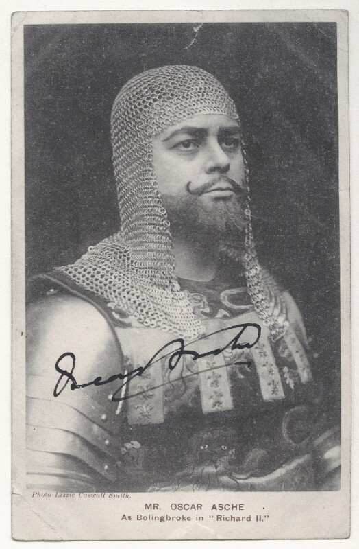 Oscar Asche as Bolingbroke in 'Richard II', by Lizzie Caswall Smith, published by  Davidson Brothers, early 1900s - NPG Ax45837 - © National Portrait Gallery, London