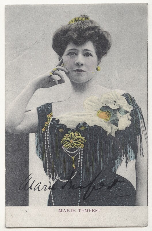 Marie Tempest, by Lallie Charles (née Charlotte Elizabeth Martin), 1900s - NPG Ax45848 - © National Portrait Gallery, London