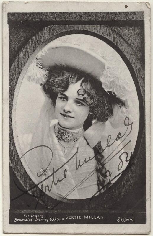 Gertie Millar, by Bassano Ltd, 1900s - NPG Ax45875 - © National Portrait Gallery, London