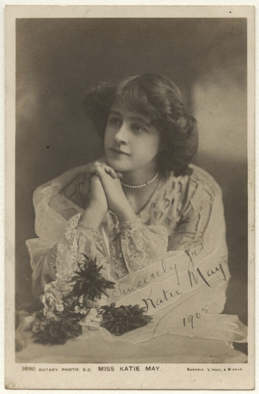 Katie May, by James Robert Saronie, published by  Rotary Photographic Co Ltd, circa 1905 - NPG Ax45894 - © National Portrait Gallery, London