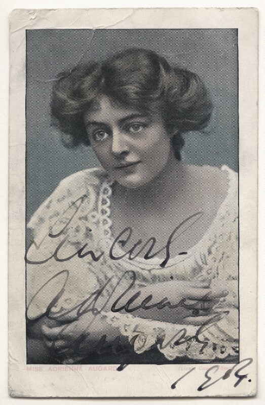 Adrienne Augarde, by Lizzie Caswall Smith, circa 1904 - NPG Ax45901 - © National Portrait Gallery, London