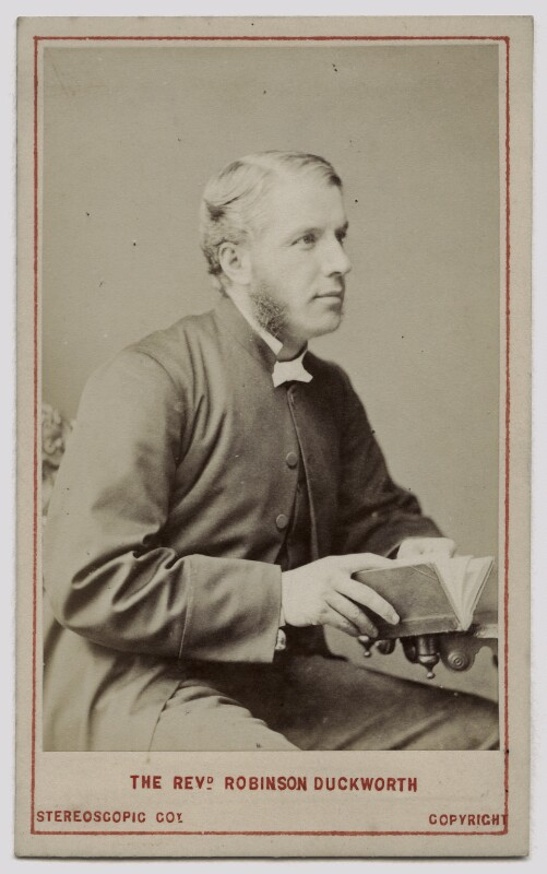 Robinson Duckworth, by London Stereoscopic & Photographic Company, circa 1873 - NPG Ax46212 - © National Portrait Gallery, London