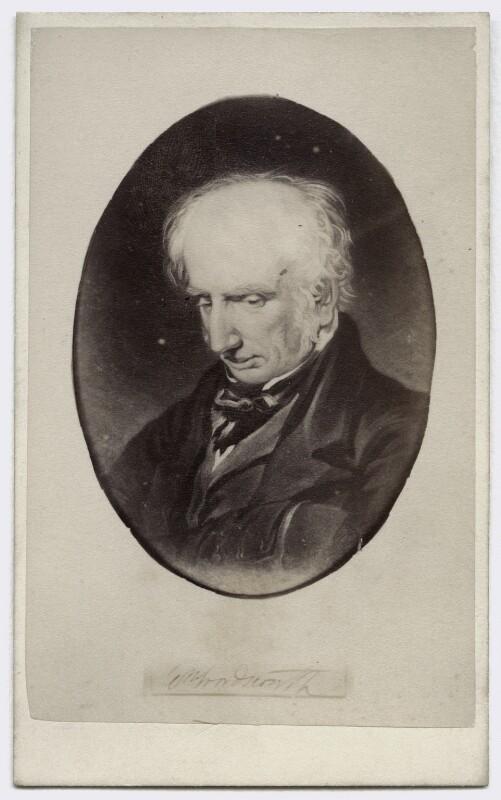 William Wordsworth, by W. Baldry, after  Benjamin Robert Haydon, 1860s (1842) - NPG Ax46229 - © National Portrait Gallery, London