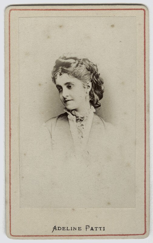 Adelina Patti, probably after Charles Bergamasco, 1870s - NPG Ax46237 - © National Portrait Gallery, London