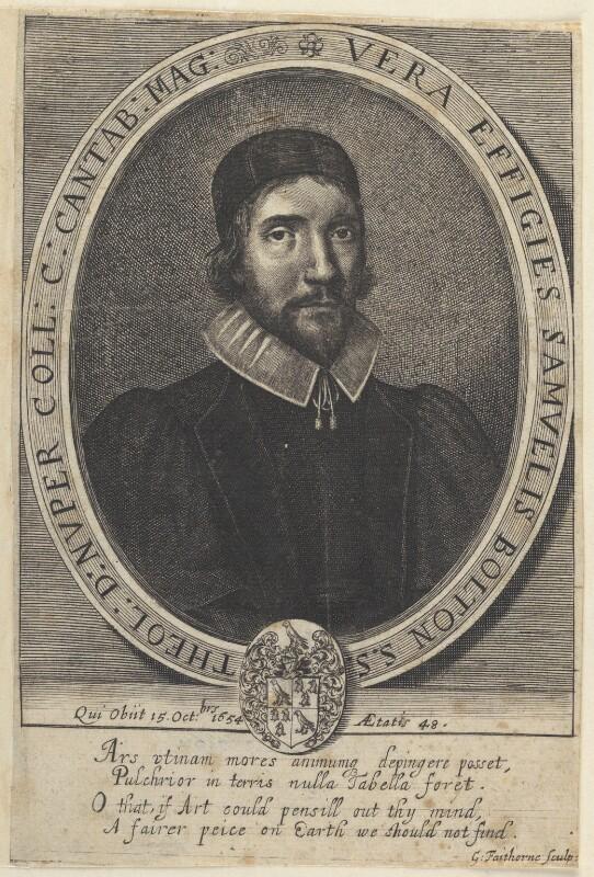 Samuel Bolton, by William Faithorne, published 1657 - NPG D22646 - © National Portrait Gallery, London
