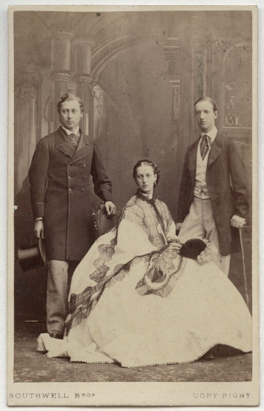 King Edward VII; Queen Alexandra; George I, King of Greece, by Southwell Brothers, October 1863 - NPG Ax47007 - © National Portrait Gallery, London