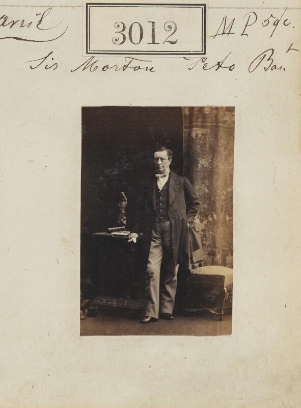 Sir (Samuel) Morton Peto, 1st Bt, by Camille Silvy, 13 April 1861 - NPG Ax52415 - © National Portrait Gallery, London