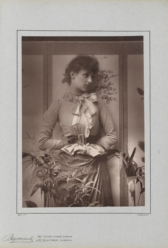 (Marion Margaret) Violet Manners (née Lindsay), Duchess of Rutland, by Herbert Rose Barraud, published by  Richard Bentley & Son, published 1888 - NPG Ax5427 - © National Portrait Gallery, London