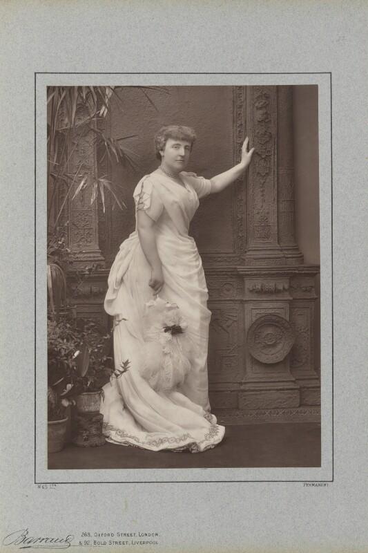 Frances Hodgson Burnett, by Herbert Rose Barraud, published by  Richard Bentley & Son, published 1888 - NPG Ax5434 - © National Portrait Gallery, London