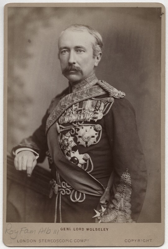 Garnet Joseph Wolseley, 1st Viscount Wolseley, by London Stereoscopic & Photographic Company, 1880s - NPG Ax5565 - © National Portrait Gallery, London