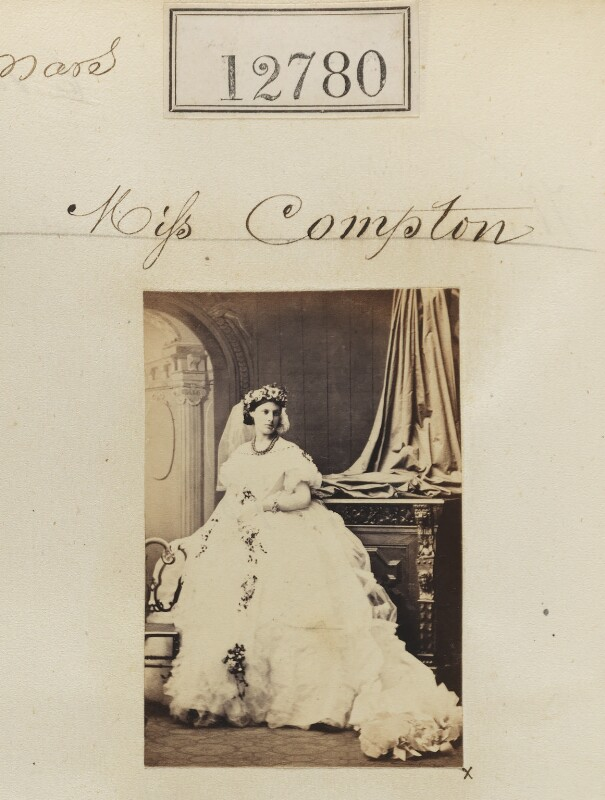 Miss Compton, by Camille Silvy, 6 March 1863 - NPG Ax62423 - © National Portrait Gallery, London