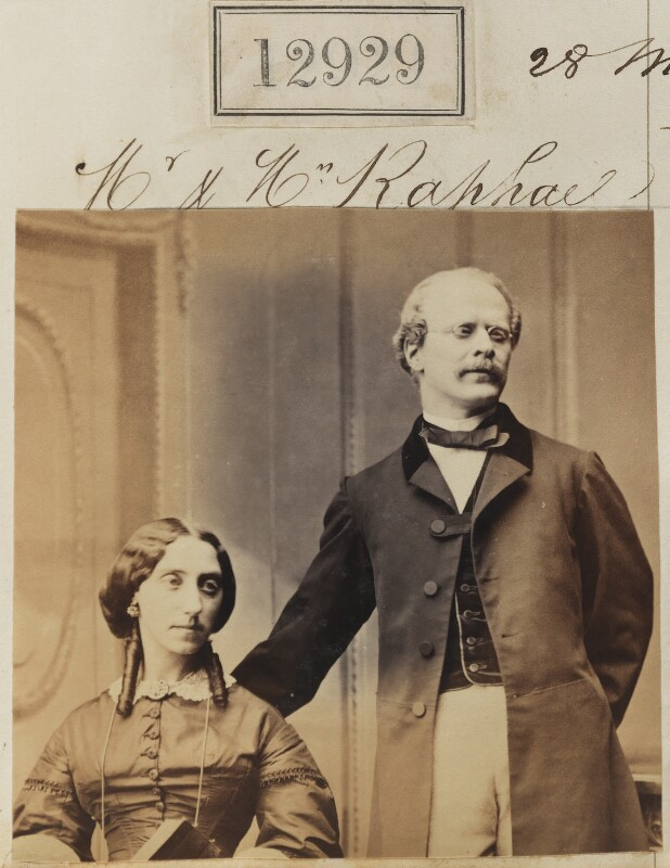 Mrs Raphael; Mr Raphael, by Camille Silvy, 28 March 1863 - NPG Ax62570 - © National Portrait Gallery, London