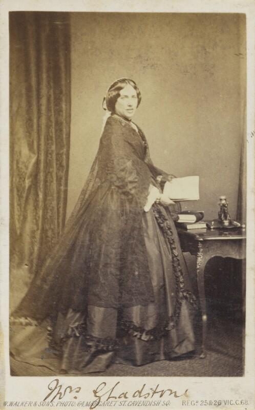 Catherine Gladstone (née Glynne), by William Walker & Sons, 1862-1866 - NPG Ax68081 - © National Portrait Gallery, London
