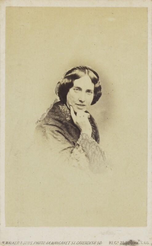 Catherine Gladstone (née Glynne), by William Walker & Sons, 1862-1866 - NPG Ax68082 - © National Portrait Gallery, London