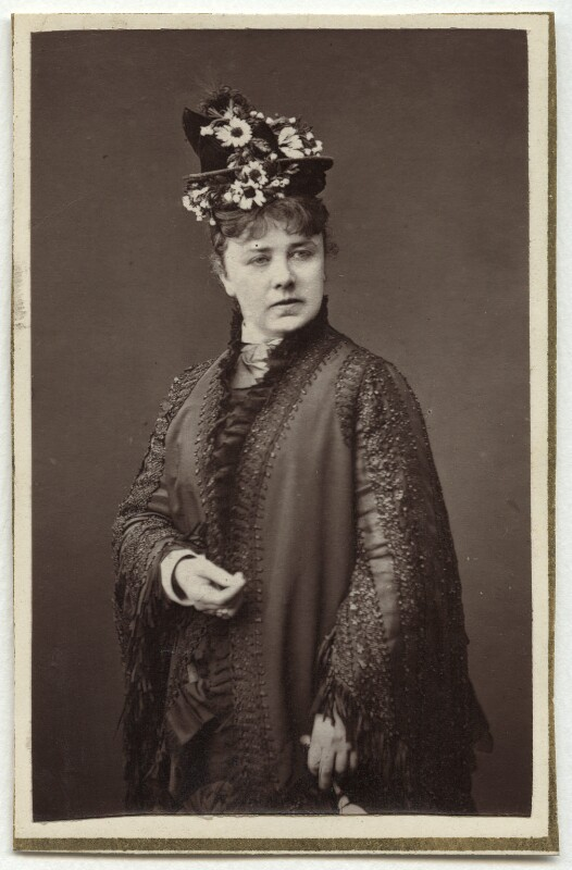 Marie Effie (née Wilton), Lady Bancroft, by Lock & Whitfield, circa 1875 - NPG Ax7686 - © National Portrait Gallery, London