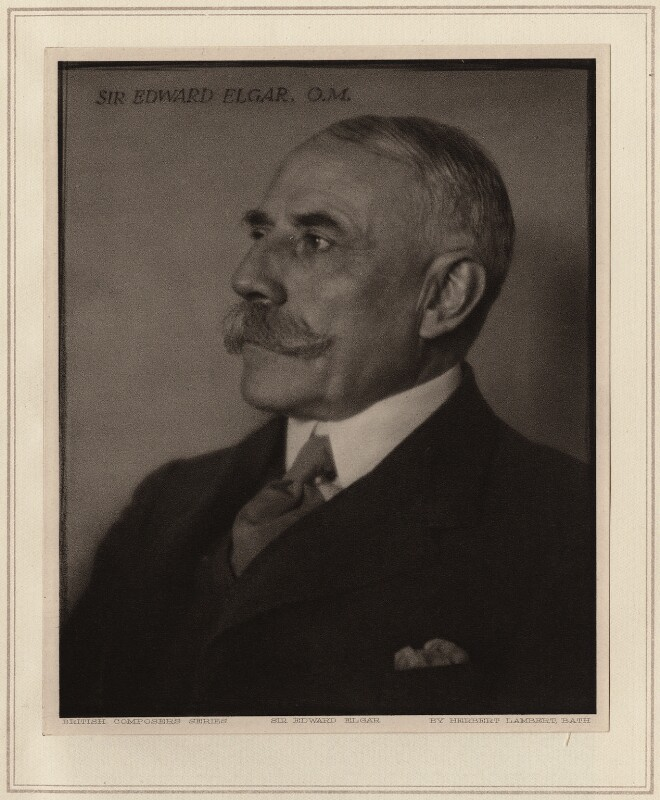 Sir Edward Elgar, Bt, by Herbert Lambert, circa 1922 - NPG Ax7741 - © National Portrait Gallery, London