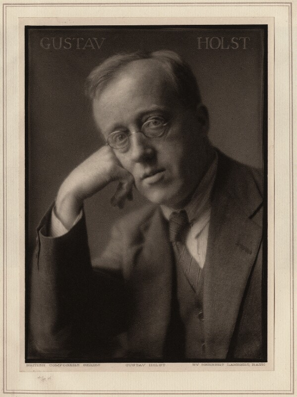 Gustav Holst, by Herbert Lambert, circa 1921 - NPG Ax7745 - © National Portrait Gallery, London
