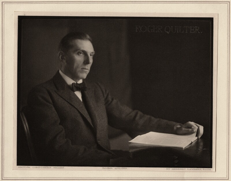 Roger Quilter, by Herbert Lambert, circa 1922 - NPG Ax7746 - © National Portrait Gallery, London