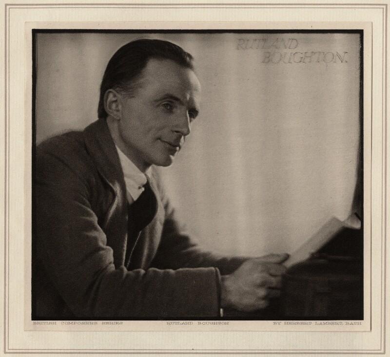 Rutland Boughton, by Herbert Lambert, circa 1922 - NPG Ax7747 - © National Portrait Gallery, London