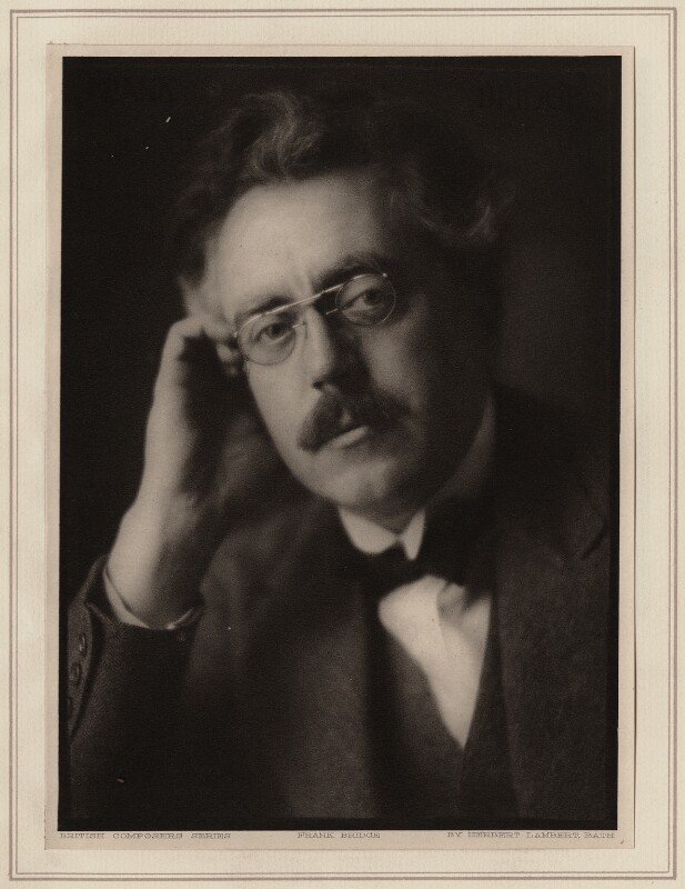 Frank Bridge, by Herbert Lambert, circa 1922 - NPG Ax7749 - © National Portrait Gallery, London