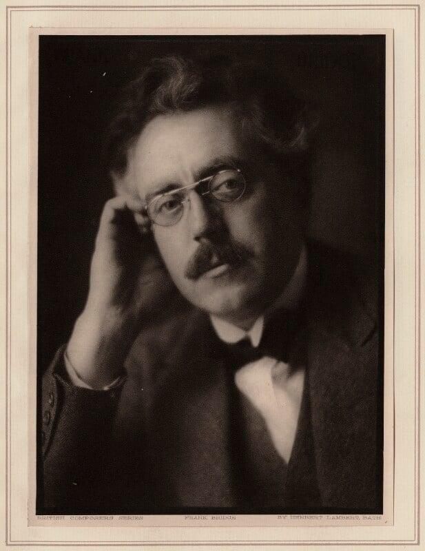 Frank Bridge, by Herbert Lambert, circa 1922 - NPG Ax7749 - © National Portrait Gallery, London