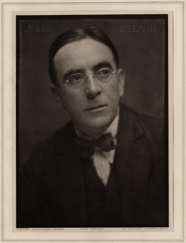 John Nicholson Ireland, by Herbert Lambert, circa 1922 - NPG Ax7751 - © National Portrait Gallery, London
