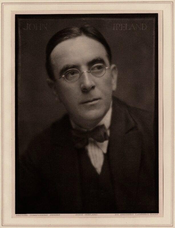 John Nicholson Ireland, by Herbert Lambert, circa 1922 - NPG Ax7751 - © National Portrait Gallery, London