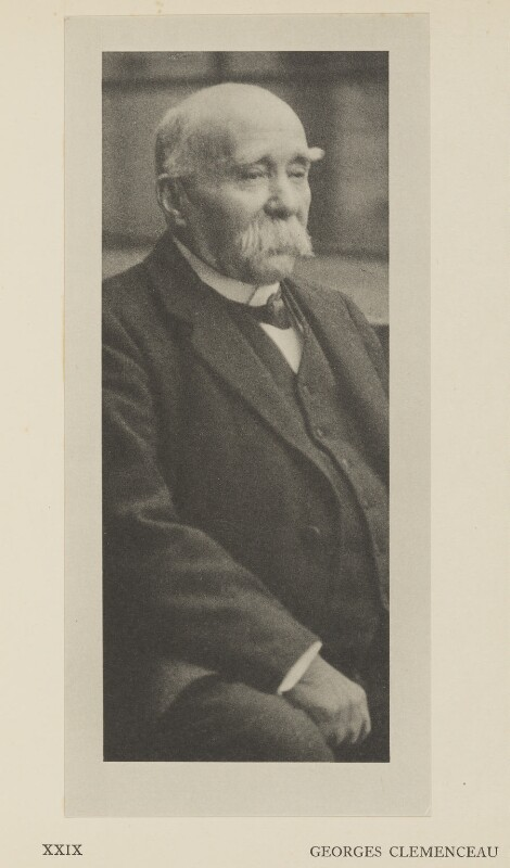 Georges Clemenceau, by Alvin Langdon Coburn, published by  Duckworth & Co, 2 December 1918 - NPG Ax7871 - © The Universal Order