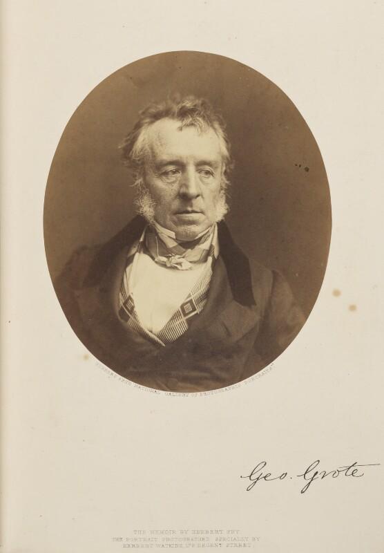 George Grote, by (George) Herbert Watkins, 1857 - NPG Ax7905 - © National Portrait Gallery, London