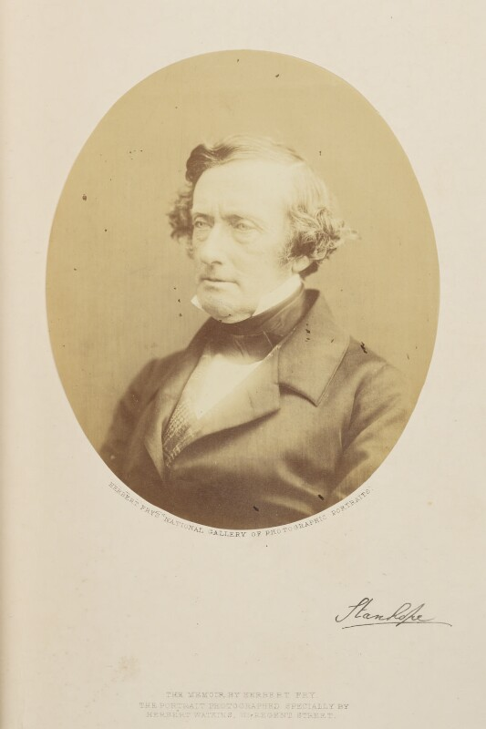 Philip Stanhope, 5th Earl Stanhope, by (George) Herbert Watkins, 1857 - NPG Ax7906 - © National Portrait Gallery, London