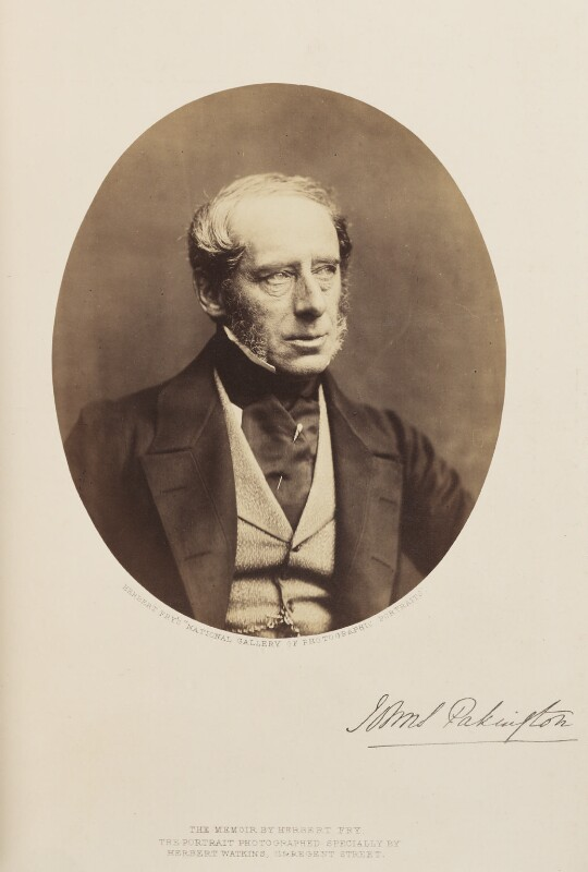 John Somerset Pakington, 1st Baron Hampton, by Herbert Watkins, 1858 - NPG Ax7914 - © National Portrait Gallery, London