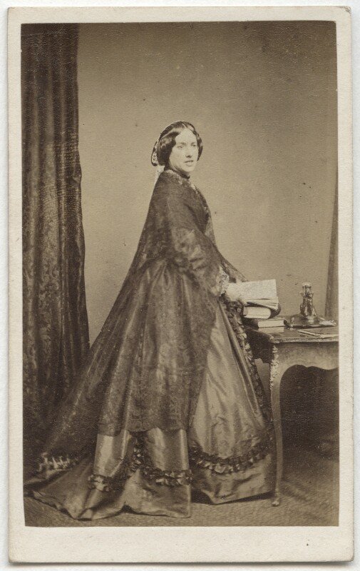 Catherine Gladstone (née Glynne), by William Walker & Sons, 1862-1866 - NPG Ax8531 - © National Portrait Gallery, London