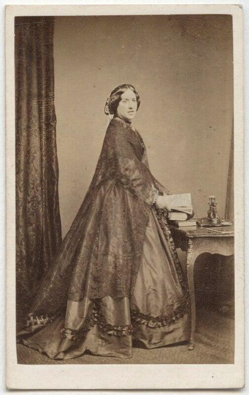 Catherine Gladstone (née Glynne), by William Walker & Sons, 1862-1866 - NPG Ax8531 - © National Portrait Gallery, London