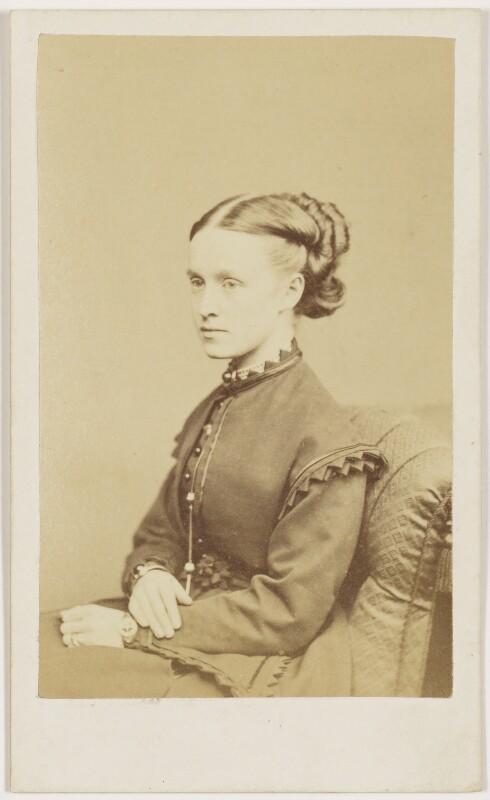 Dame Millicent Garrett Fawcett (née Garrett), by Henry Joseph Whitlock, late 1860s - NPG Ax8628 - © National Portrait Gallery, London