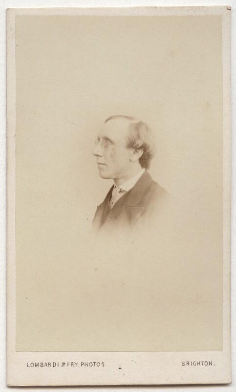 Henry Fawcett, by Lombardi & Fry, 1865 - NPG Ax8631 - © National Portrait Gallery, London