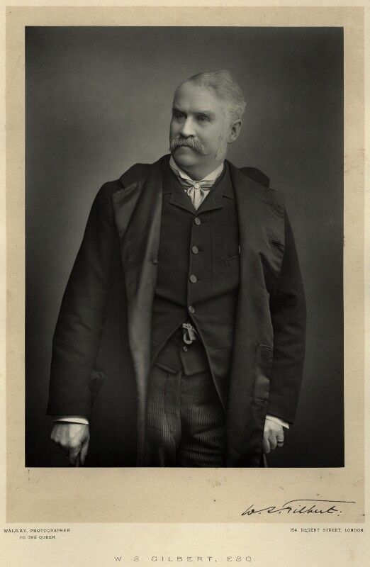 Sir William Schwenck Gilbert, by Walery, published by  Sampson Low & Co, published April 1889 - NPG Ax9127 - © National Portrait Gallery, London