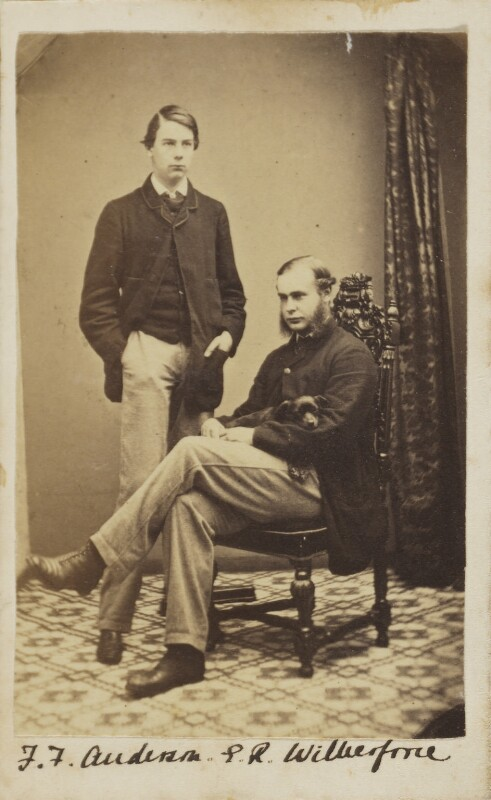 Francis Foljambe Anderson; Ernest Roland Wilberforce, by Unknown photographer, circa 1860 - NPG Ax9600 - © National Portrait Gallery, London