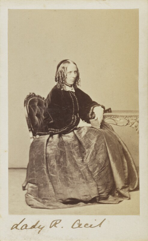 Georgina Gascoyne-Cecil (née Alderson), Marchioness of Salisbury, by Unknown photographer, circa 1862 - NPG Ax9657 - © National Portrait Gallery, London