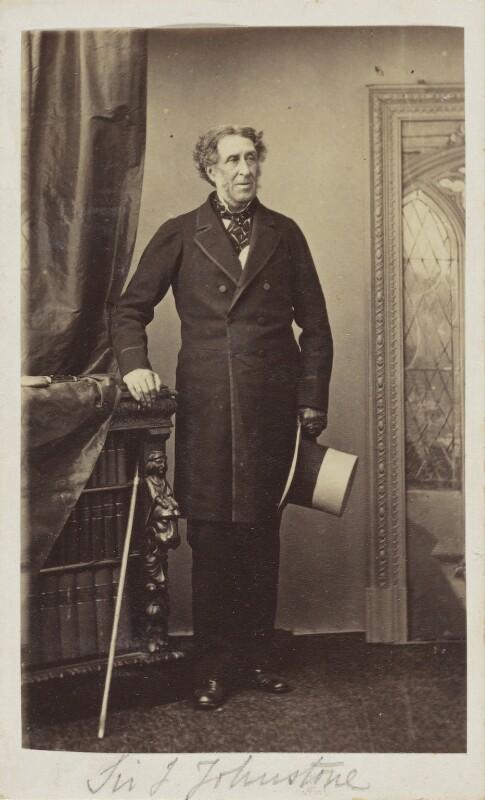 Sir John Vanden Bempde Johnstone, 2nd Bt, by Unknown photographer, 1860s - NPG Ax9738 - © National Portrait Gallery, London