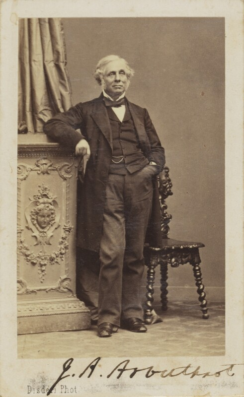 John Alves Arbuthnot, by Disdéri, 1860s - NPG Ax9884 - © National Portrait Gallery, London