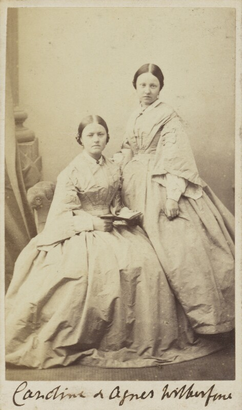 Caroline Mary Wilberforce; Agnes Everilda Mary Froude (née Wilberforce), by Unknown photographer, 1860s-1870s - NPG Ax9934 - © National Portrait Gallery, London