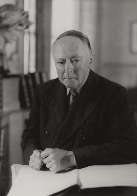Sir Arnold Bax, by Howard Coster, 1950s - NPG x10660 - © National Portrait Gallery, London
