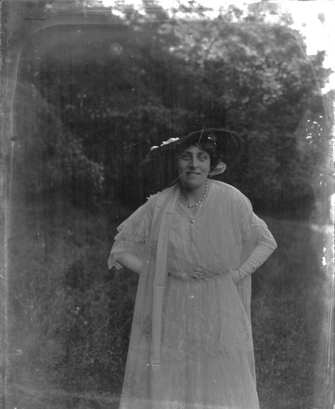 Lena Ashwell (née Lena Margaret Pocock, later Lady Simson), by Mrs Albert Broom (Christina Livingston), early 1910s - NPG x1138 - © National Portrait Gallery, London