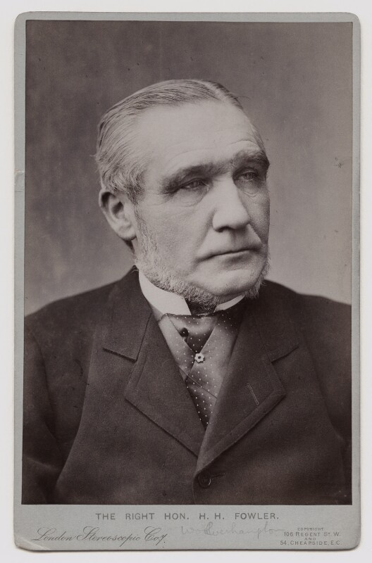 Henry Hartley Fowler, 1st Viscount Wolverhampton, by London Stereoscopic & Photographic Company, August 1902 - NPG x11847 - © National Portrait Gallery, London